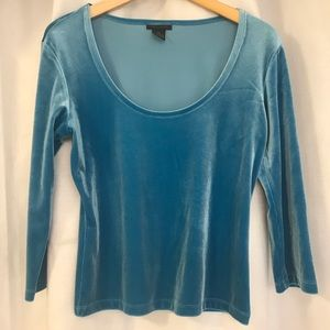 The Limited Turquoise Velvet tee